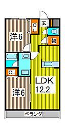 リッツハイム庚申坂[2階]の間取り