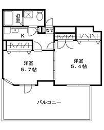 マリエール青葉台[4階]の間取り