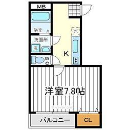 大阪府大阪市阿倍野区共立通1丁目の賃貸マンションの間取り