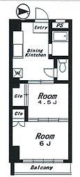 BRILLANTE VILLA[2階]の間取り