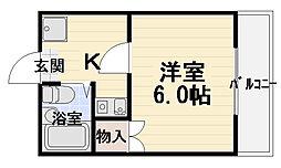フレール・ナカノ[3階]の間取り