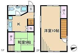 [一戸建] 東京都豊島区駒込7丁目 の賃貸【/】の間取り