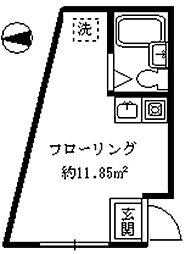 ラウム・アイ[1階]の間取り