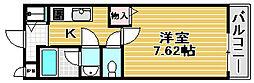カルティエ3M[111号室]の間取り