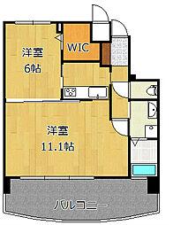 サンシャインプリンセス北九州[8階]の間取り