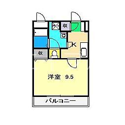 イーリス横浜[1階]の間取り