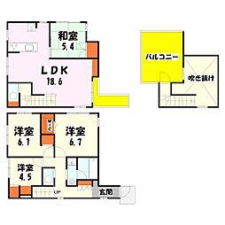 [一戸建] 東京都足立区梅田4丁目 の賃貸【/】の間取り