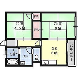 田村マンション[2階]の間取り