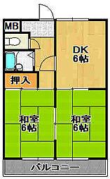 兵庫県宝塚市小浜3丁目の賃貸マンションの間取り