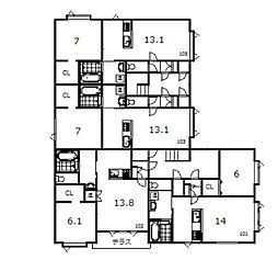 豊岡1−1新築[101号室]の間取り