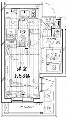 東京都品川区荏原1丁目の賃貸マンションの間取り