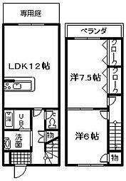 [テラスハウス] 大阪府泉佐野市日根野 の賃貸【/】の間取り
