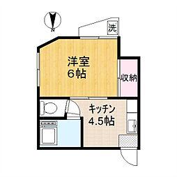 リバーサイドマンション[4D号室]の間取り