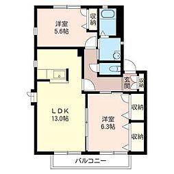 スガヤビレッジ6 102号室[1階]の間取り