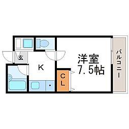 寺町ハウス[3階]の間取り