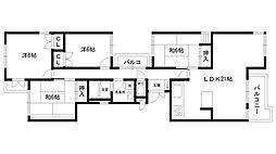 モナーク甲子園[2階]の間取り