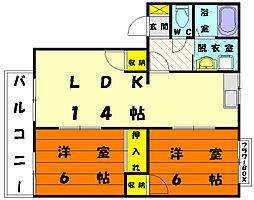フレグランス御島崎[1階]の間取り