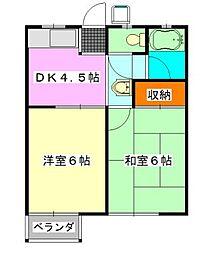 コーポミユキ[102号室]の間取り