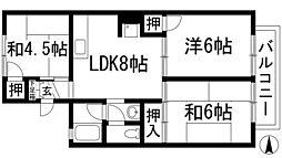 豊島北ガーデンハイツ[2階]の間取り