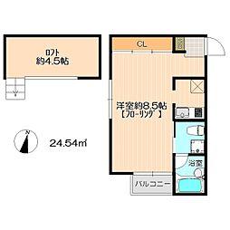 西片江 アパートメント[2階]の間取り