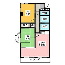 マリーヴィラII[2階]の間取り