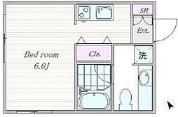 Y381[C号室号室]の間取り