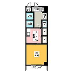 メゾンラフィネII[4階]の間取り