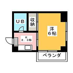 ハートイン平田[4階]の間取り