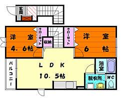 エトワールA[2階]の間取り