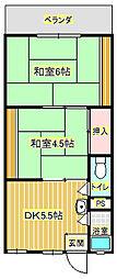 芝龍ハイツ[2階]の間取り