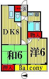 東京都足立区梅島1丁目の賃貸マンションの間取り