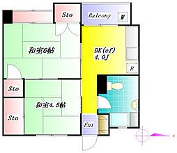 東洋ビル[9階]の間取り