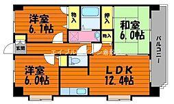 岡山県倉敷市水江丁目なしの賃貸マンションの間取り