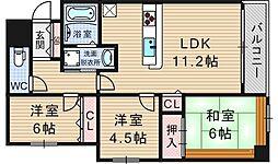 アーデンタワー新町[3階]の間取り
