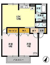 エミーハイツ3[2階]の間取り