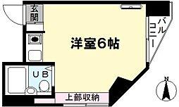 メゾンソレイユ井草[201号室]の間取り