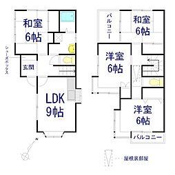 [一戸建] 神奈川県相模原市南区上鶴間本町8丁目 の賃貸【/】の間取り