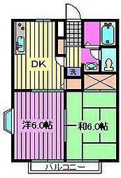 第5パレスイン[1階]の間取り