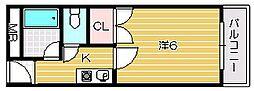 宮元12番館[1階]の間取り