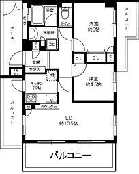 クリオ弘明寺桜通り 壱番館[2階]の間取り