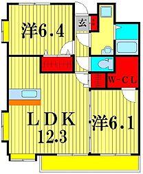 エスポワール[3階]の間取り