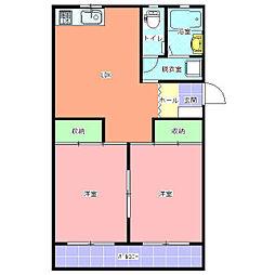 新原マンション[405号室]の間取り
