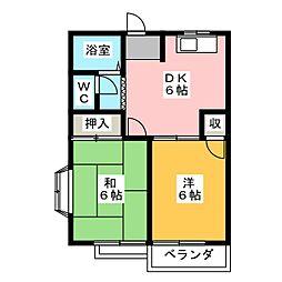 エルシャトー松川C棟[2階]の間取り