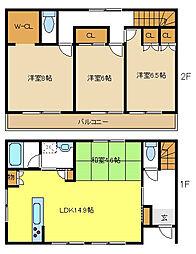 [一戸建] 愛知県名古屋市名東区牧の里2丁目 の賃貸【/】の間取り