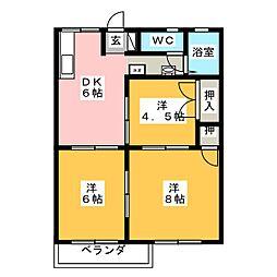 ハイツ桜井[2階]の間取り