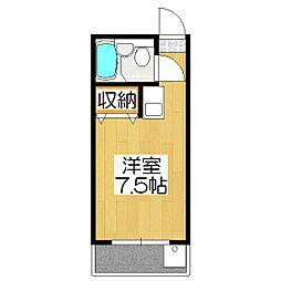 りぶ京都北大路[402号室]の間取り
