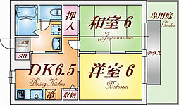 兵庫県神戸市長田区名倉町2丁目の賃貸アパートの間取り