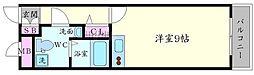 プラスコート西豊川 1階ワンルームの間取り
