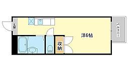 兵庫県姫路市飾磨区高町1丁目の賃貸アパートの間取り