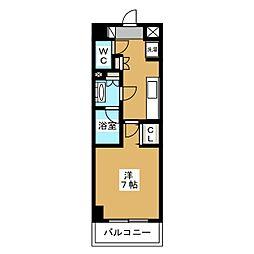 DUO STAGE 町田 MAXIV 2階1Kの間取り